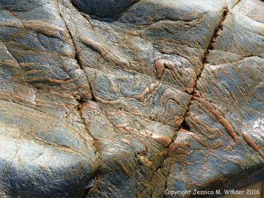 Metamorphic rock textures and patterns