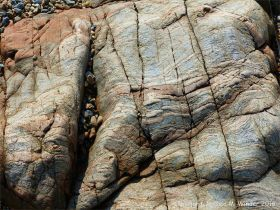 Metamorphic rock textures and patterns