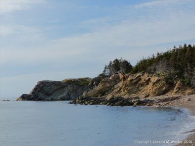 Carboniferous sandstone cliffs at Presqu'ile on Cape Breton Island