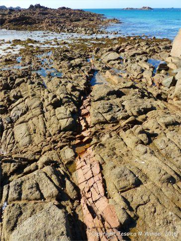 Aplite vein running through Cobo Granite