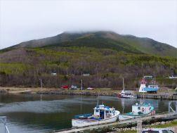 The small harbour at Pleasant Bay in Cape Breton Island, Nova Scotia.