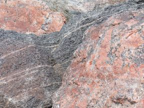 Texture and pattern in Devonian plutonic rocks in Cape Breton Island, Nova Scotia, Canada.