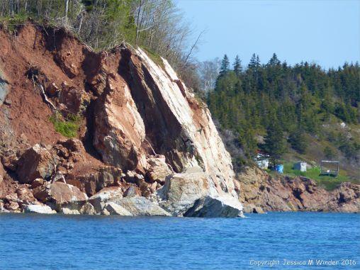 The white gypsum of Crystal Cliffs