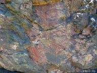 Rock pattern and texture in a basalt flow on Cape Breton Isand, Nova Scotia.