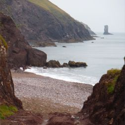 View looking south near Trabeg on the Dingle Peninsula in Ireland