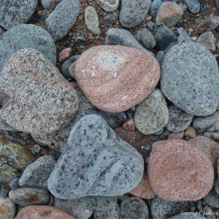 Beach stones at Corney Brook on the Cabot Trail on Cape Breton Island