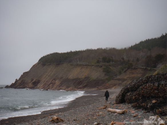 The beach at Corney Brook on Cape Breton Island