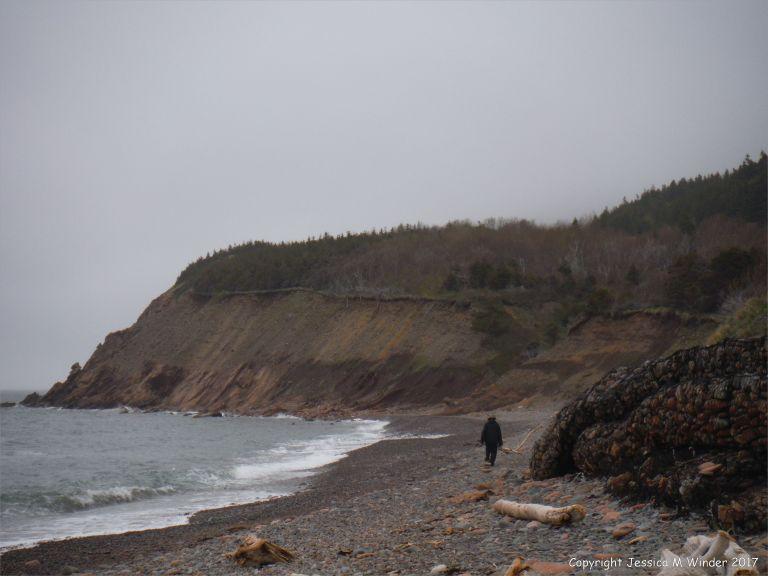 The beach at Corney Brook on Cape Breton Island