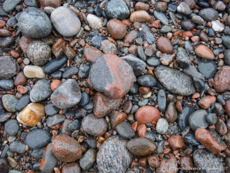 Beach stones at Corney Brook on the Cabot Trail on Cape Breton Island