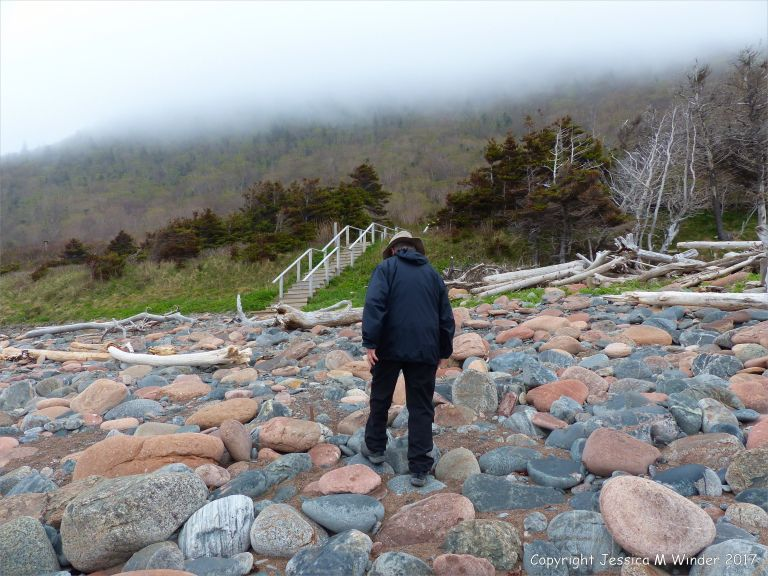 View of Corney Brook beach on the Cabot Trail