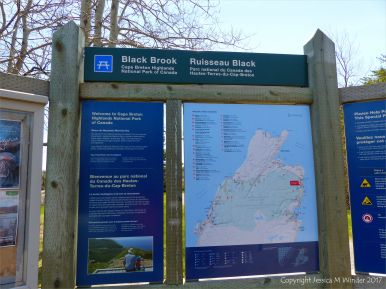 Information board at Black Brook Cove, Cape Breton Island