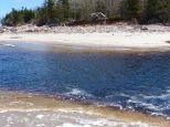 The dark water in Black Brook River