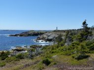 View looking south along the Louisbourg Lighthouse Trail
