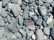 Beach stones at Morning Star Cove