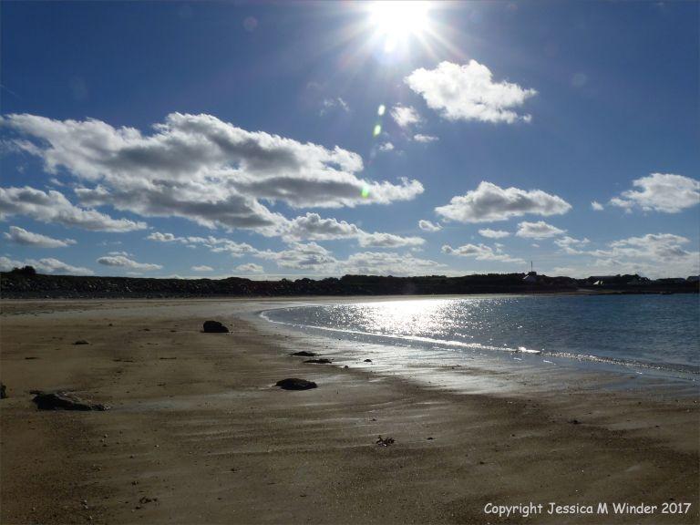 View across Baie de Port Grat in the Channel Island of Guernsey