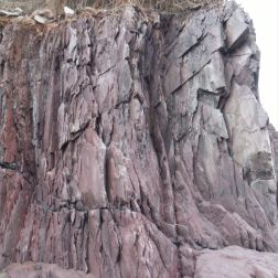 Detail of the natural pattern and texture of the Devonian Trabeg Conglomerate Formation of the Dingle Group, Ireland