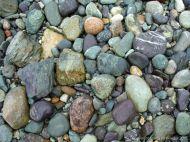 Beach stones of volcanic rock at Fourchu Head