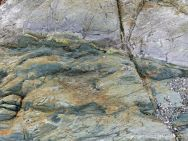 Detail of an outcrop of volcanic rock at Fourchu Head