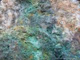 Colour and texture in quartz with copper minerals