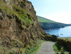The steep path down to Dunquin Harbour