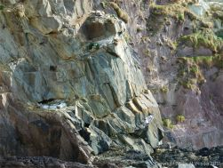 Rock face at Dunquin Harbour