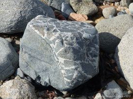 Boulder on the beach at Rousse Point