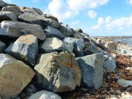 Boulders on the beach at Rousse Point