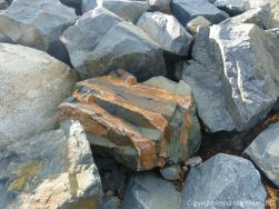 Beach boulders at Rousse Point