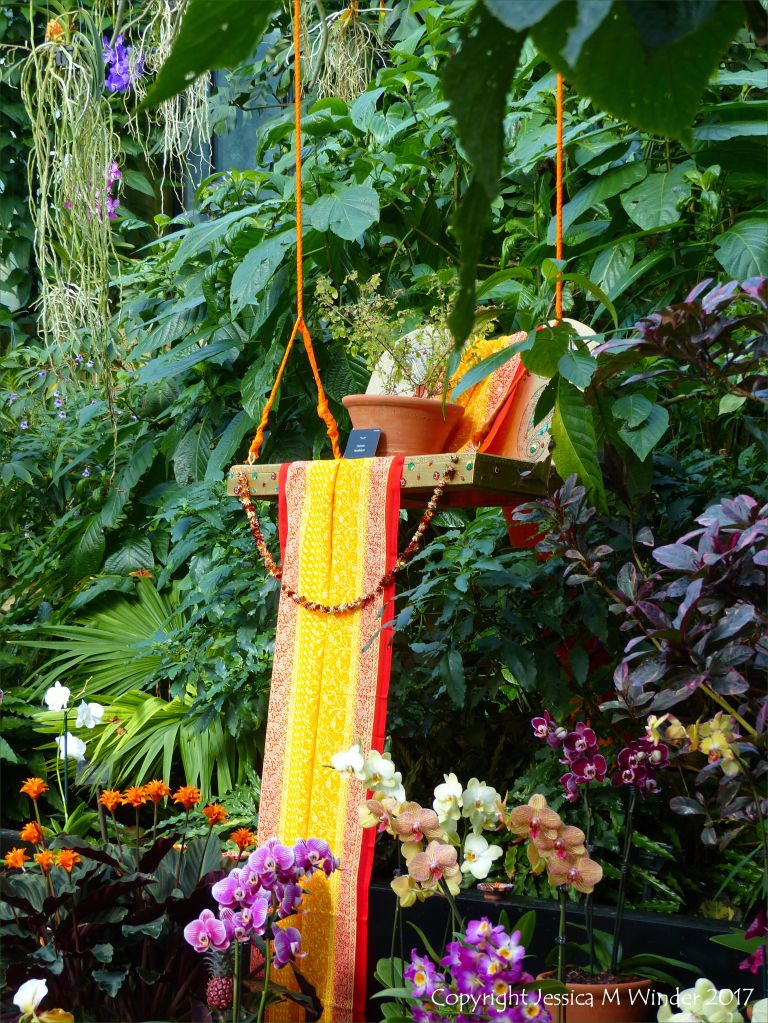 Swing seat in the Princess of Wales Conservatory at Kew Gardens