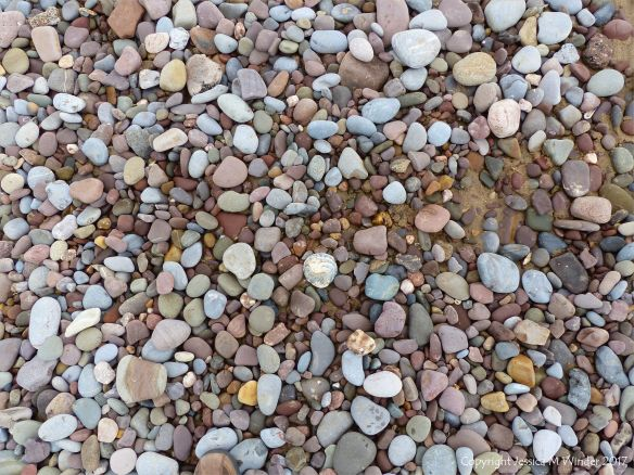 Pebbles near Diles Lake at Rhossili