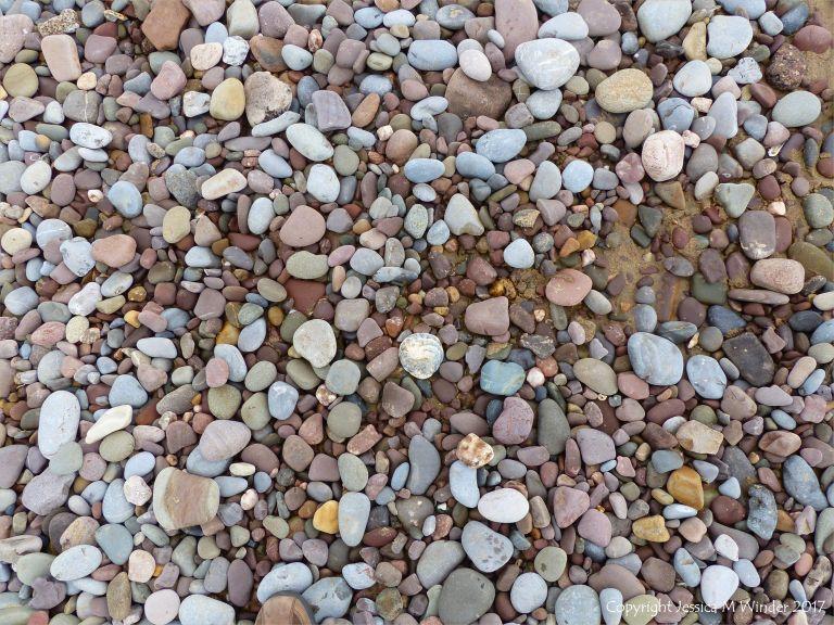 Pebbles near Diles Lake at Rhossili