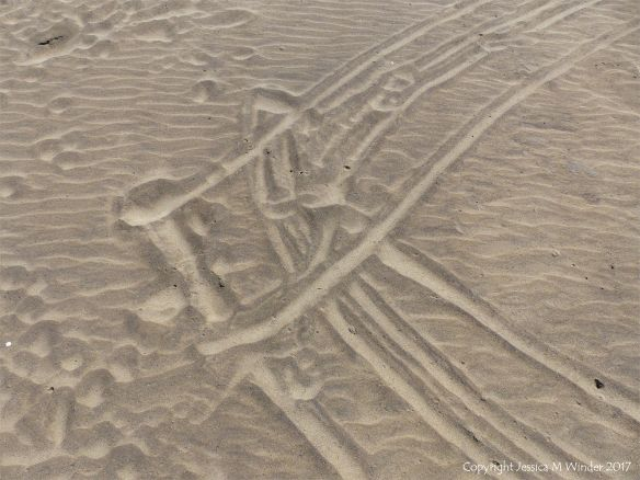 Man-made patterns in the sand at Rhossili