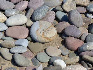 Pebbles on the beach at Rhossili Bay