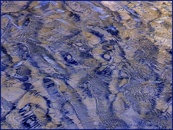 Natural patterns in wind-rippled water