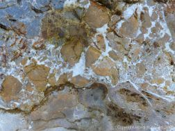 Detail of the pattern in a beach boulder at Twlc Point