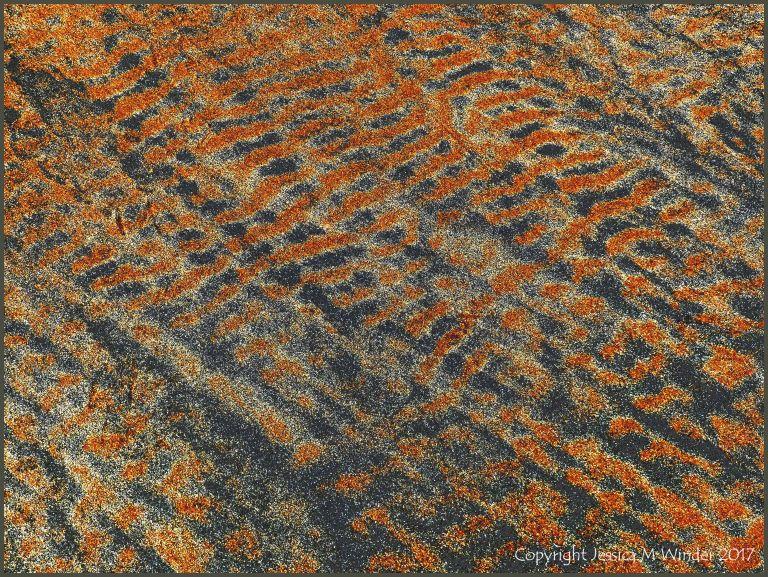 Patterns on beach sand