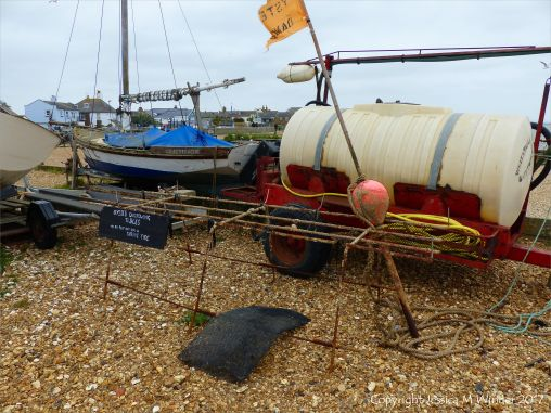 Oyster cultivation equipment on the beach at Whitstable