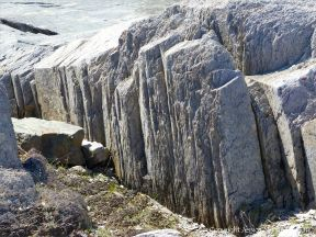 Fine layers of ash in volcanic tuff from Cape Breton in Nova Scotia