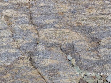 Close-up rock texture in tuff