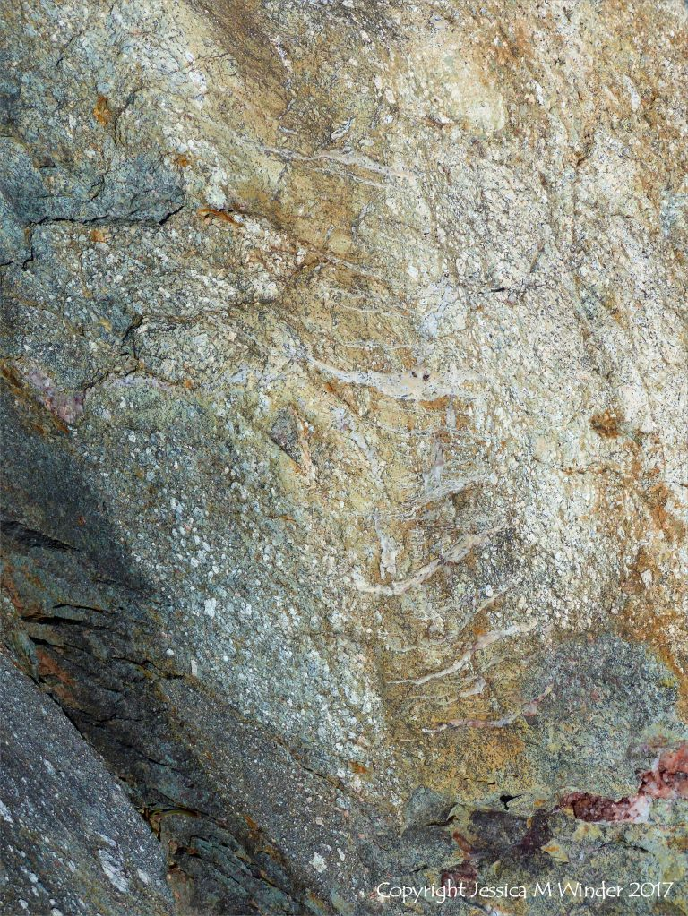 Texture of tuff - a rock made of volcanic ash
