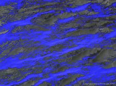 Rippled river water surface pattern and texture