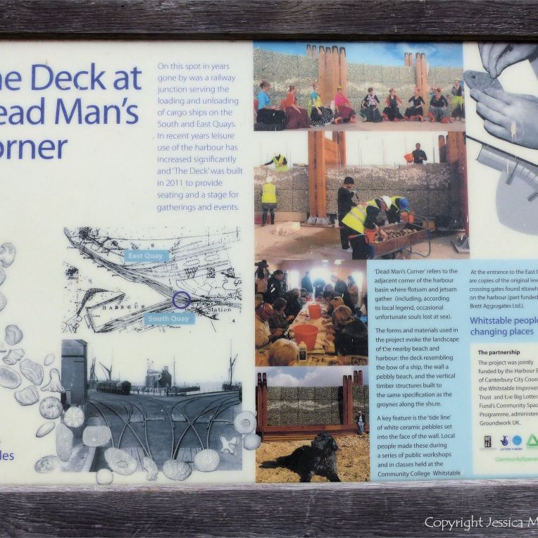Explanatory sign at Dead Man's Corner Deck in Whitstable
