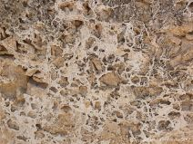 Detail of crystal pattern in a limestone wall