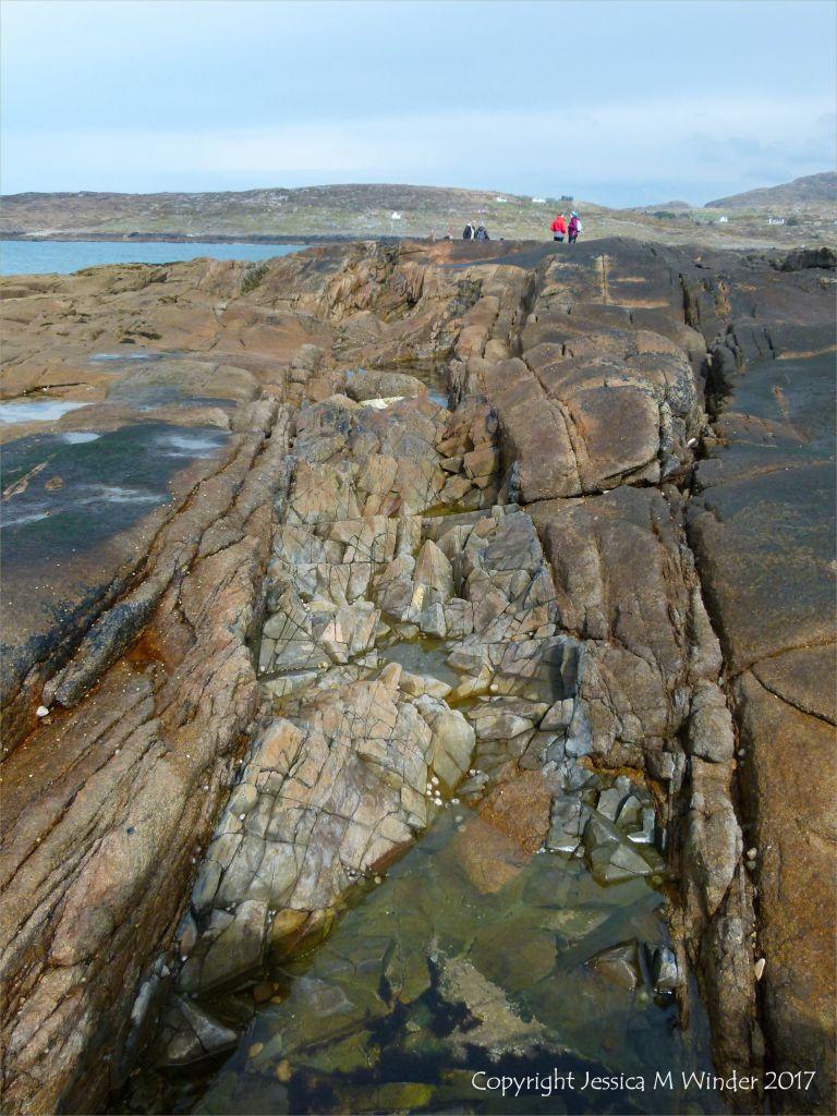 Dike running through granite