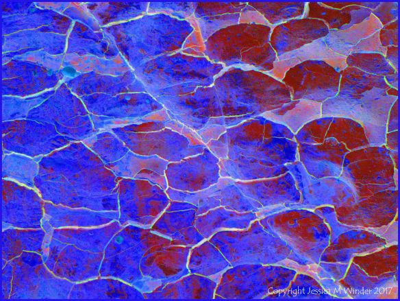 Abstract image based on natural fracture patterns in soft rocks