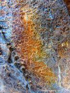 Details of natural colours, patterns, and textures in rusty iron