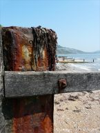 Context shot for the rusty iron macros taken on old breakwaters