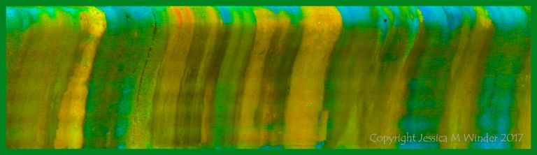 Digitally enhanced detail of sea wall pattern