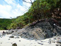 Rock texture and pattern at Cape Tribulation - meta-sedimentary rocks