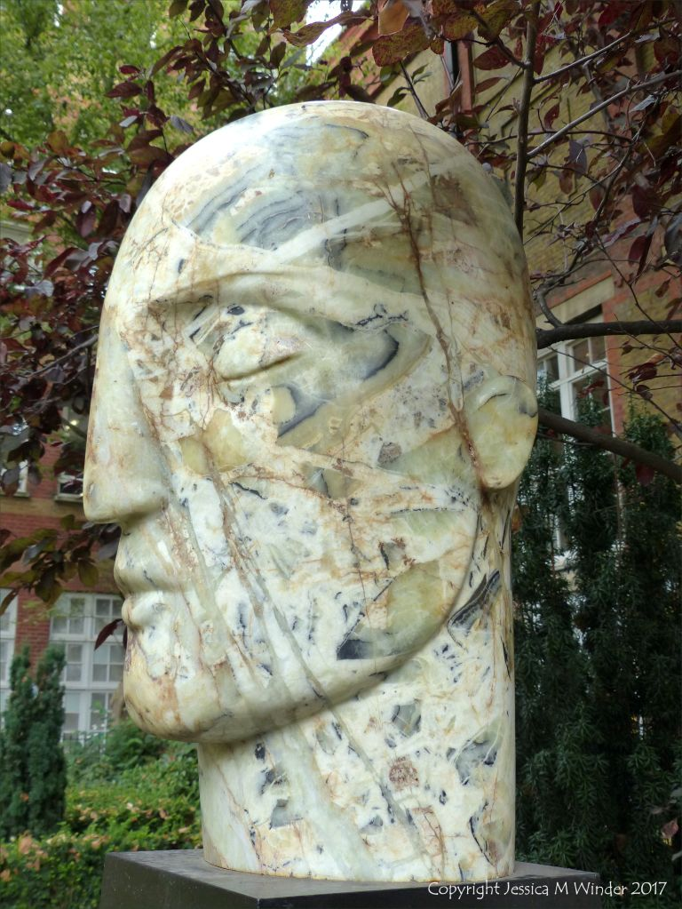 """Sculpted head """"Veltha"""" by Emily Young"""